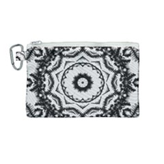 Abstract Pattern Fractal Canvas Cosmetic Bag (medium) by Sapixe