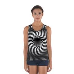 Art Optical Black White Hypnotic Sport Tank Top