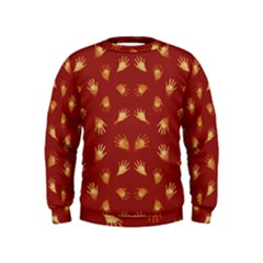 Primitive Art Hands Motif Pattern Kids  Sweatshirt