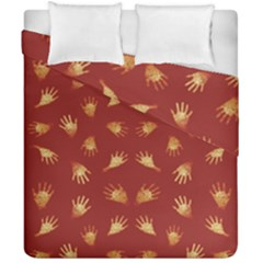 Primitive Art Hands Motif Pattern Duvet Cover Double Side (california King Size)