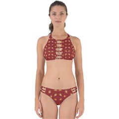 Primitive Art Hands Motif Pattern Perfectly Cut Out Bikini Set