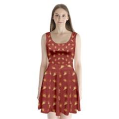 Primitive Art Hands Motif Pattern Split Back Mini Dress