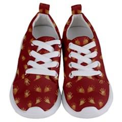 Primitive Art Hands Motif Pattern Kids  Lightweight Sports Shoes