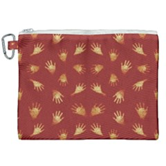 Primitive Art Hands Motif Pattern Canvas Cosmetic Bag (xxl)