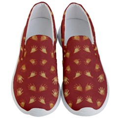 Primitive Art Hands Motif Pattern Men s Lightweight Slip Ons