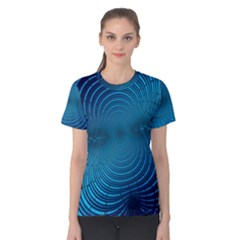 Background Brush Particles Wave Women s Cotton Tee