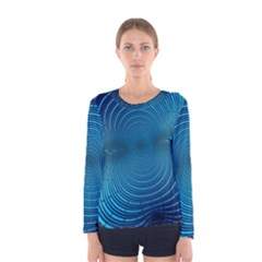 Background Brush Particles Wave Women s Long Sleeve Tee