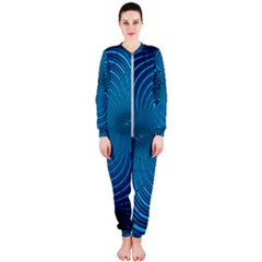 Background Brush Particles Wave Onepiece Jumpsuit (ladies)