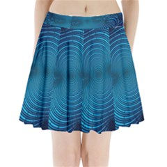 Background Brush Particles Wave Pleated Mini Skirt