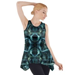 Abstract Fractal Magical Side Drop Tank Tunic