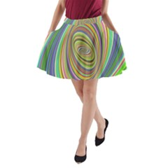 Ellipse Background Elliptical A Line Pocket Skirt