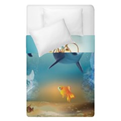 Dolphin Art Creation Natural Water Duvet Cover Double Side (single Size)