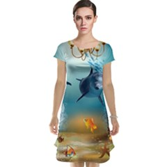 Dolphin Art Creation Natural Water Cap Sleeve Nightdress