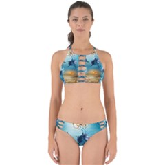 Dolphin Art Creation Natural Water Perfectly Cut Out Bikini Set