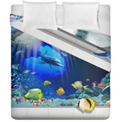 Dolphin Art Creation Natural Water Duvet Cover Double Side (california King Size)