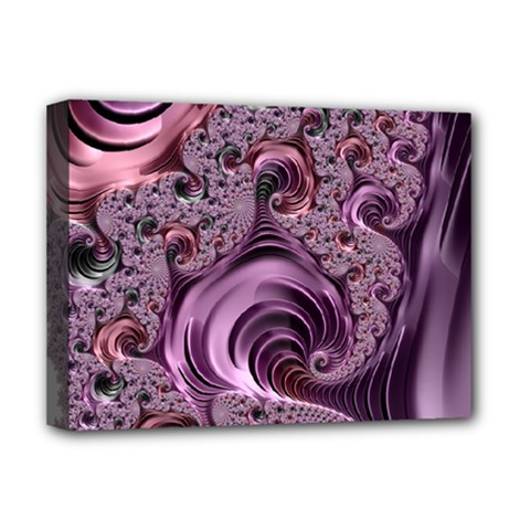 Purple Abstract Art Fractal Deluxe Canvas 16  X 12