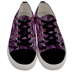 Purple Abstract Art Fractal Men s Low Top Canvas Sneakers