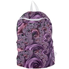 Purple Abstract Art Fractal Foldable Lightweight Backpack
