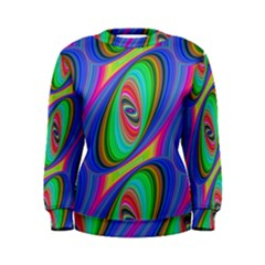 Ellipse Pattern Elliptical Fractal Women s Sweatshirt