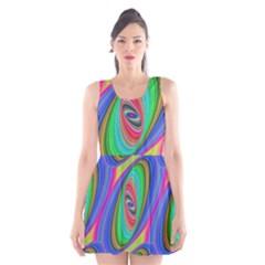 Ellipse Pattern Elliptical Fractal Scoop Neck Skater Dress