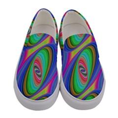 Ellipse Pattern Elliptical Fractal Women s Canvas Slip Ons