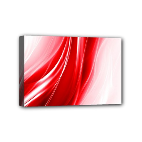 Flame Red Fractal Energy Fiery Mini Canvas 6  X 4