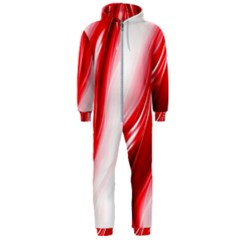 Flame Red Fractal Energy Fiery Hooded Jumpsuit (men)