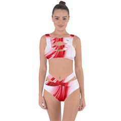 Flame Red Fractal Energy Fiery Bandaged Up Bikini Set
