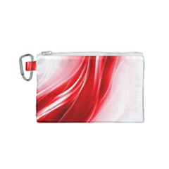 Flame Red Fractal Energy Fiery Canvas Cosmetic Bag (small)