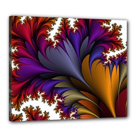 Flora Entwine Fractals Flowers Canvas 24  X 20