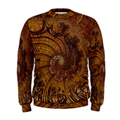 Copper Caramel Swirls Abstract Art Men s Sweatshirt