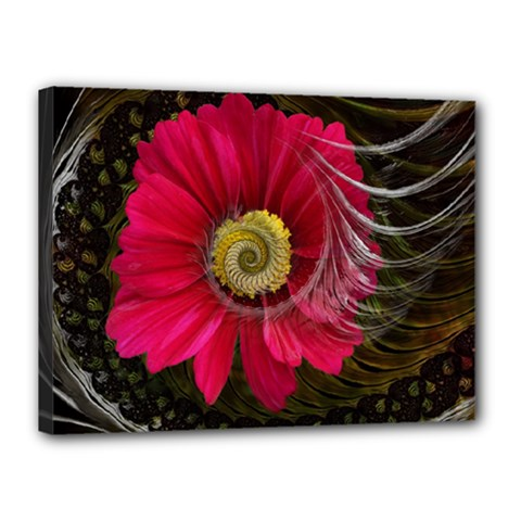 Fantasy Flower Fractal Blossom Canvas 16  X 12  by Sapixe