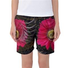 Fantasy Flower Fractal Blossom Women s Basketball Shorts