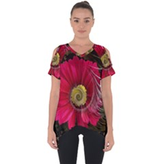 Fantasy Flower Fractal Blossom Cut Out Side Drop Tee