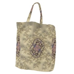 Fractal Art Colorful Pattern Giant Grocery Zipper Tote by Sapixe