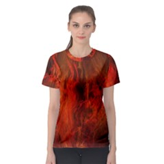 Fractal Abstract Background Physics Women s Sport Mesh Tee