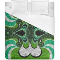 Fractal Art Green Pattern Design Duvet Cover (california King Size)
