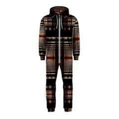 Fractal Art Design Geometry Hooded Jumpsuit (kids)