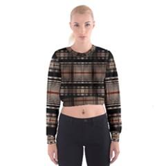 Fractal Art Design Geometry Cropped Sweatshirt