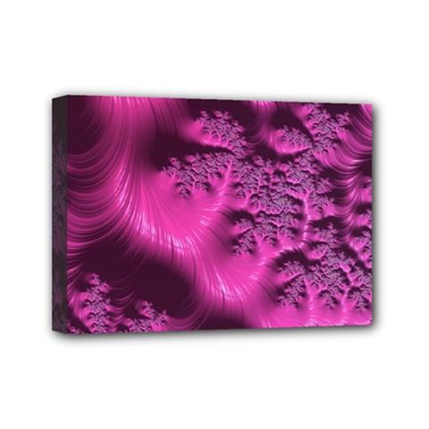 Fractal Artwork Pink Purple Elegant Mini Canvas 7  X 5