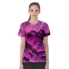 Fractal Artwork Pink Purple Elegant Women s Sport Mesh Tee