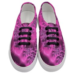 Fractal Artwork Pink Purple Elegant Women s Classic Low Top Sneakers
