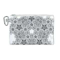 Fractal Background Foreground Canvas Cosmetic Bag (large)