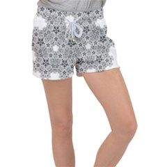 Fractal Background Foreground Women s Velour Lounge Shorts