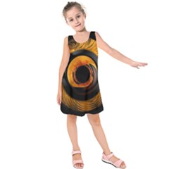Fractal Mathematics Abstract Kids  Sleeveless Dress