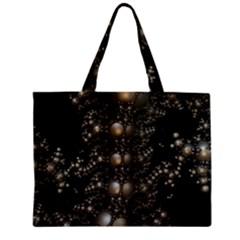 Fractal Math Geometry Backdrop Zipper Mini Tote Bag by Sapixe