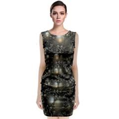 Fractal Math Geometry Backdrop Classic Sleeveless Midi Dress