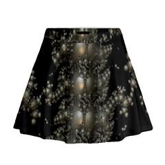 Fractal Math Geometry Backdrop Mini Flare Skirt