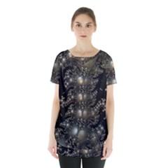 Fractal Math Geometry Backdrop Skirt Hem Sports Top