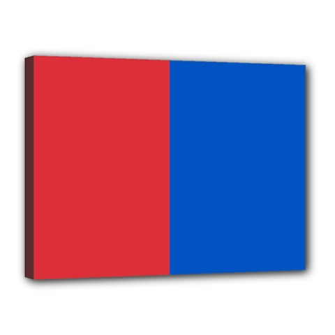 Red And Blue Canvas 16  X 12